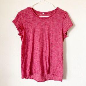 Lululemon pink short sleeve work out top medium